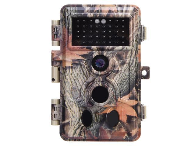 """Trail Camera 16MP 1080P No Glow No Flash Night Vision Wildlife Hunting Game Camera with 2.4"""" LCD 120° PIR Sensors 0.2s Trigger Time Motion Activated IP66 Waterproof Protected"""