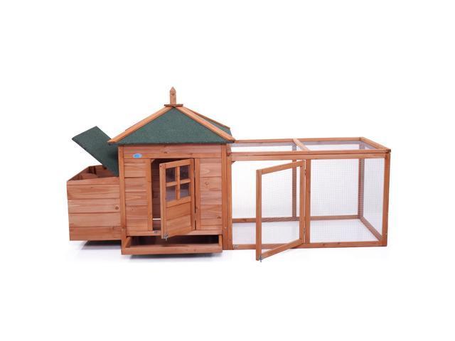 En Coop Hen House Rabbit Wood Hutch Poultry Cage Waterproof New Wooden