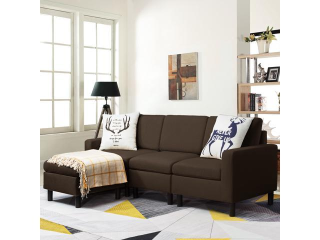 Waleaf Convertible Sectional Sofa with Reversible Chaise, - Sale: $319.99 USD (30% off)