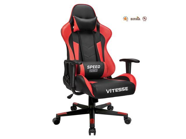 vitesse gaming office chair with carbon fiber design high back