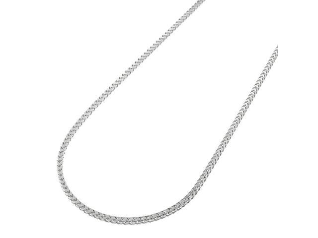 d901b2554899b Sterling Silver Italian 1mm Solid Franco Square Box Link 925 Rhodium  Necklace Chain 16