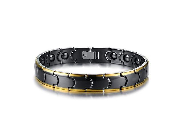 46082abb2fb5 AutofeelSunriseoffice hombre mujer pulsera magnética saludable cálculo  biliar negro cerámica pulseras titanio potencia acero terapia imanes bandas  ...