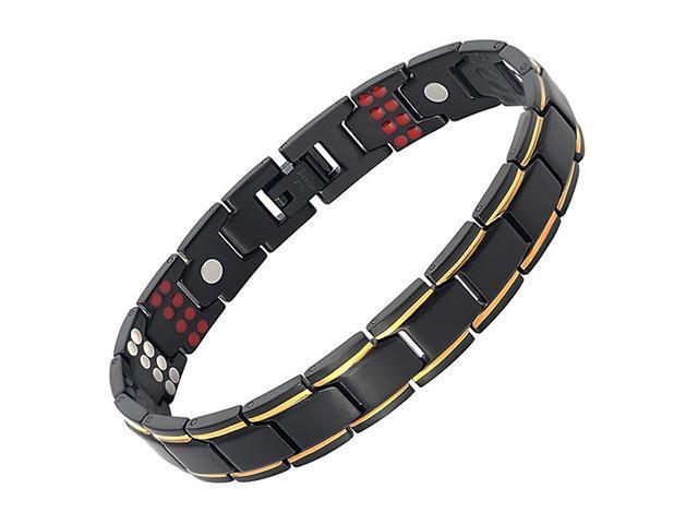 7cd9a5f12cec AutofeelSunriseoffice lujo titanio turmalina magnético pulseras de acero  inoxidable para las mujeres los hombres macho Bio salud cuidado de joyería  de ...
