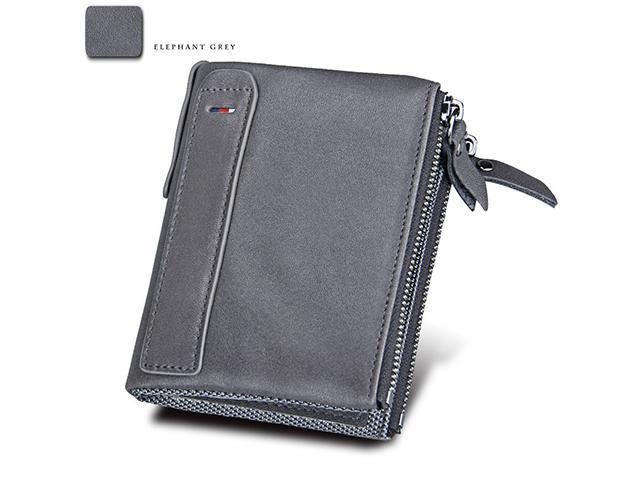 AutofeelSunriseoffice Men Leather RFID/NFC Blocking Wallet Card Holder Male Fashion Purse Small Money Bag Mini Vintage Slim Wallets Clutch Bags