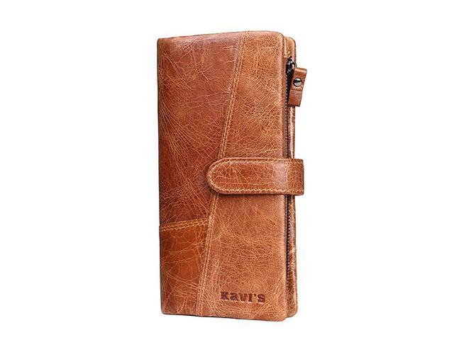 0143fb6aebb6 AutofeelSunriseoffice Fashion Men Women RFID Blocking Leather Wallet Multi  Card Holder Buckle Zipper Purses Male Mini Money Coins Purse Anti-theft ...