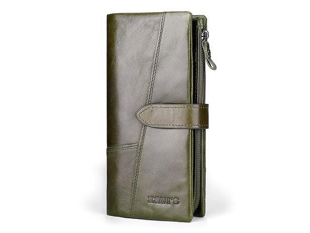 a8144ba5f827 AutofeelSunriseoffice Fashion Men Women RFID Blocking Leather Wallet Multi  Card Holder Buckle Zipper Purses Male Mini Money Coins Purse Anti-theft ...