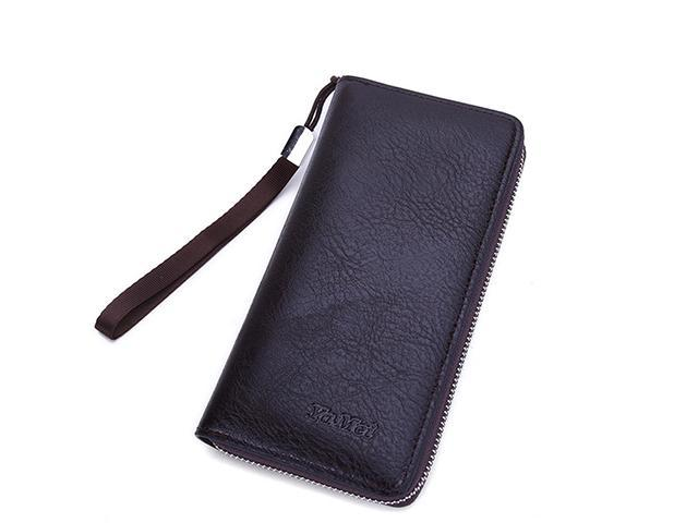 2457cff44a06 AutofeelSunriseoffice Fashion Men's Leather Large Capacity Wallets Business  Card Holder Purse Male Coins Money Wallet Short