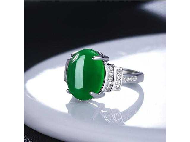 Autofeelsunriseoffice Luxury Women Ladies Green Red Agate Open
