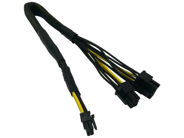 COMeap Mini 8 Pin to 8 Pin(6+2) 6 Pin PCIe Power Adapter Cable for Dell  PowerEdge R540 R640 R740 R740XD Lenovo ThinkSystem SR650 Part Number TR5TP