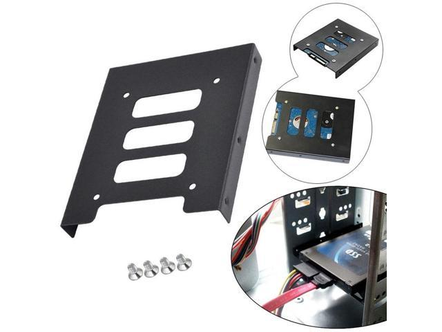 """2.5/"""" to 3.5/"""" SSD HDD Metal Adapter Mounting Bracket Hard Drive Holder for PC F7J"""