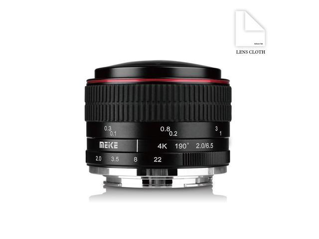 MEIKE MK-6.5mm F2.0 E-Mount Fisheye Lens Works with Sony