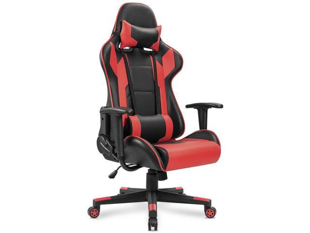 homall computer gaming chair racing style high back reclining