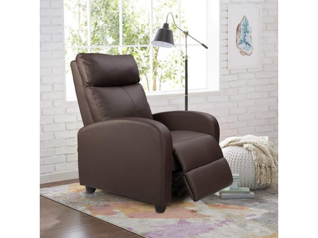 Homall Single Recliner Chair Padded Seat Black PU Leather Living Room Recliner  Modern Recliner Sofa Seat