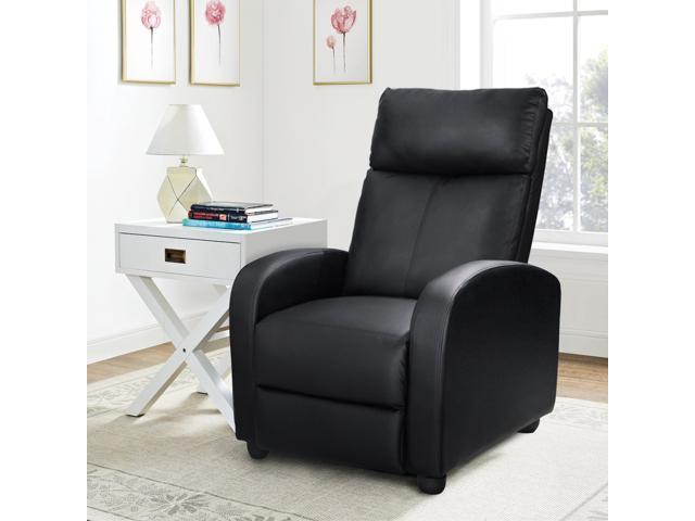 Homall Single Recliner Chair Padded Seat Black Pu Leather Living Room Sofa Modern