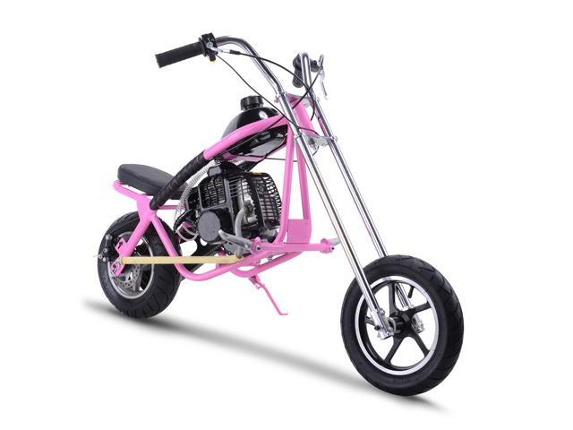 SAY YEAH Gas Scooter Mini Dirt Pit Bike 2 Stroke Kids Mini Chopper,Powerful  49cc EPA Engine Motorized Bike for Boys and Girls, Pink,Non California
