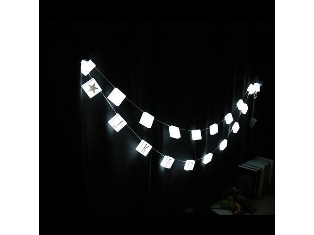 String Lights DIY LED Letter Hanging Lights Lamp Parties Christmas Décor  White Light 20LEDs - Newegg com
