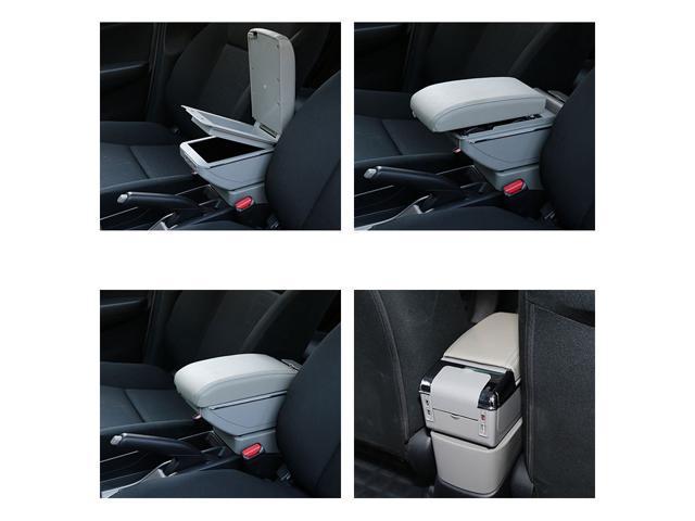 Vtear For Smart Fortwo Forfour Armrest Box Usb Charging Heighten Central Content Cup Holder