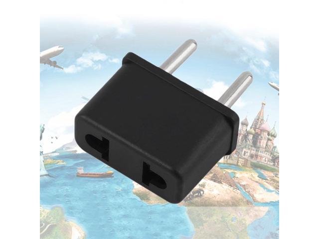 US To EU Europe 220V Standard AC Power Plug Adapter Outlet Travel ...
