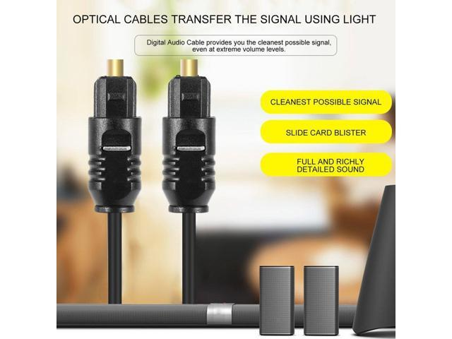 1 8 M Digital Optical Fiber Optic Toslink Audio Cable Connect Cable Cord -  Newegg com