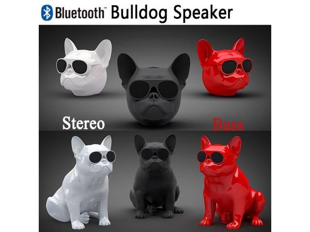 Mini Touch HIFI French Bulldog Wireless Bluetooth Super Bass Speaker Stereo  Sound Box Support FM Radio TF Mp3 Player Mobile Phone (Full Body Please