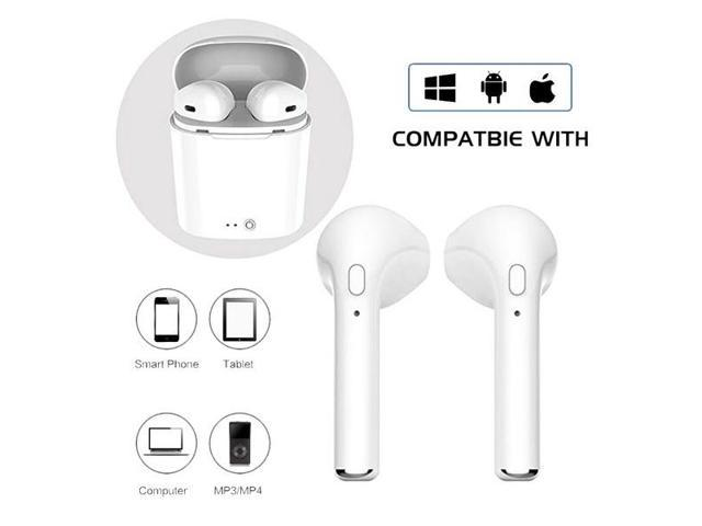 86976a00a82 Wireless Headset Bluetooth Earpieces Invisible Earbuds Twins Earphone with Charging  Box Earphones