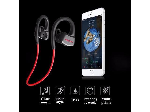 6452de3829d Dacom P10 Sport Swim Swimming IPX7 Waterproof Ear Hook Wireless Bluetooth Headphone  Earphone Earbuds (MP3