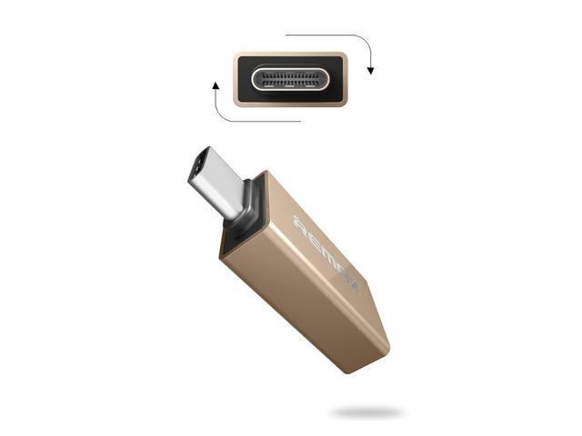 REMAX RA-OTG1 USB Type-C Dual Side OTG Charging Data Adapter/Safe