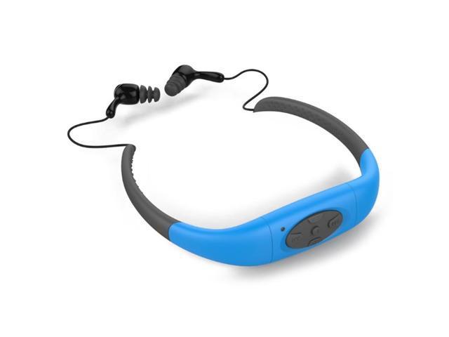 df83ec38b76 IPX8 Wireless Waterproof Earphones For Swimming Diving Stereo Bluetooth  Headset Sport MP3 Headphone Blue