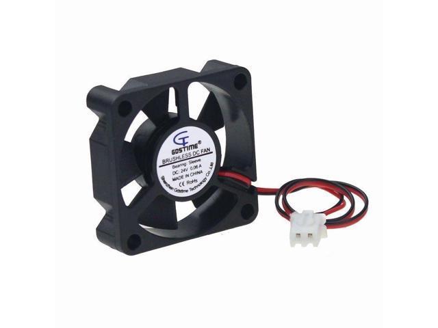 5pcs 35mm 35x35x10mm 24V 0.06A Brushless DC Cooling Cooler Fan 2pin Silent