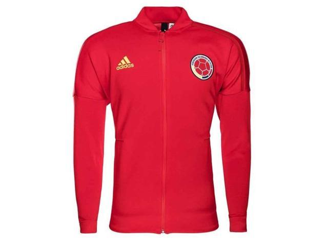 ff03e57aea5 2018-2019 Colombia Adidas ZNE Knitted Anthem Jacket (Red ...