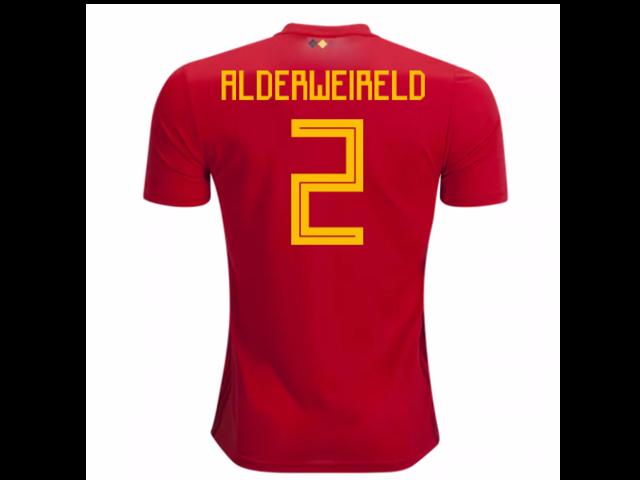 2bd705922a5 2018-2019 Belgium Adidas Home Shirt (Alderweireld 2) - Kids ...