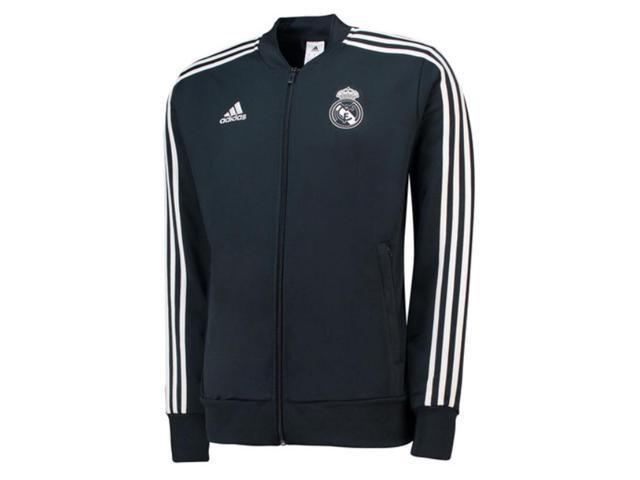 2018-2019 Real Madrid Adidas Knitted Presentation Jacket (Dark Grey) ee7189af9b