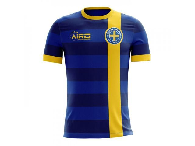 c3a345acffc 2018-2019 Sweden Away Concept Football Shirt - Newegg.com