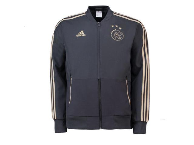 5a9fd099b59 2018-2019 Ajax Adidas Woven Presentation Jacket (Carbon ...