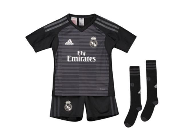 24b615b39 2018-2019 Real Madrid Adidas Home Goalkeeper Mini Kit - Newegg ...