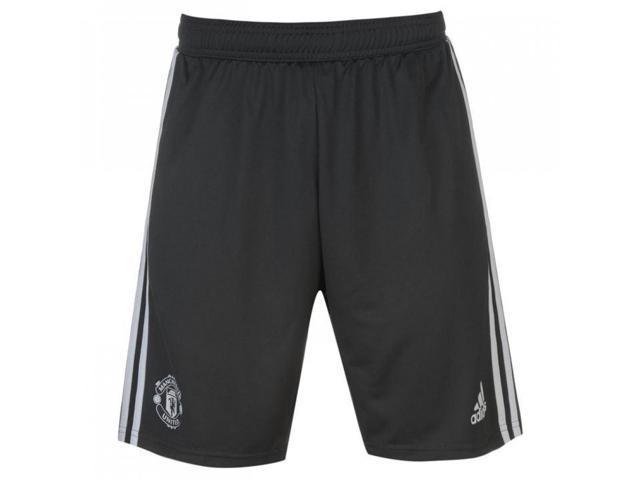 e4b4fe8673a 2017-2018 Man Utd Adidas Training Shorts (Night Grey) - Kids ...