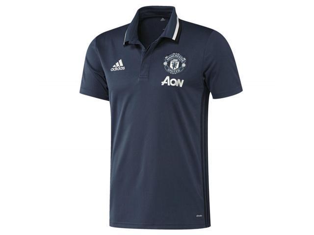 1b6fac610 2016-2017 Man Utd Adidas Training Polo Shirt (Mineral Blue) - Kids ...