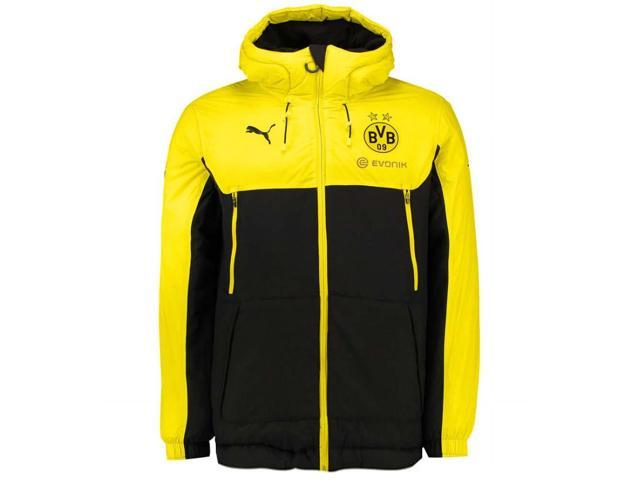 7919ec6f649a 2017-2018 Borussia Dortmund Puma Bench Jacket (Yellow ...