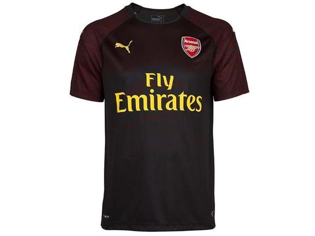 f4cebbeb 2018-2019 Arsenal Puma Home SS Goalkeeper Shirt (Black) - Kids ...