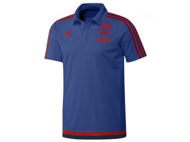 69e27982dc0 2015-2016 Man Utd Adidas Training Polo Shirt (Royal Blue) - Kids ...
