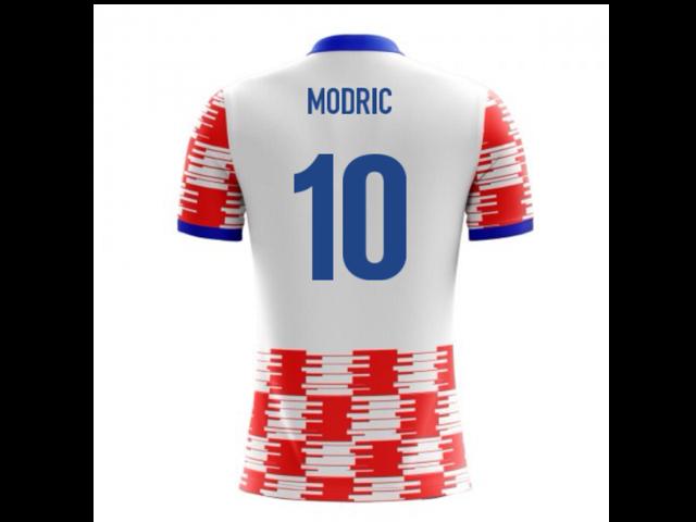 a27fc3dc8 2018-19 Croacia Airo concepto hogar camisa (Modric 10) - para niños ...