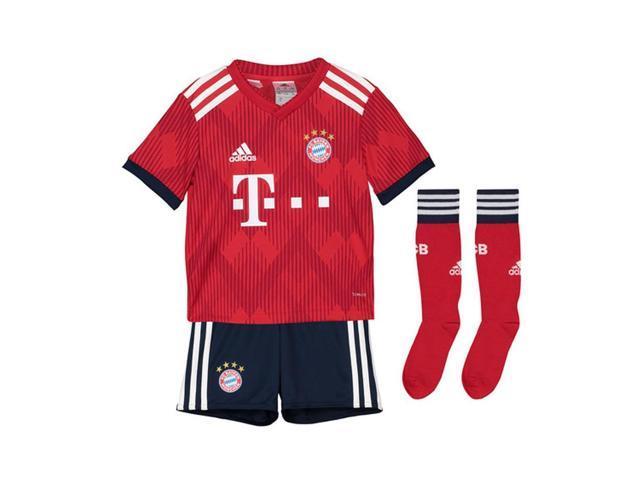 d3d8105e84 2018-2019 Bayern Munich Adidas Home Little Boys Mini Kit - Newegg ...