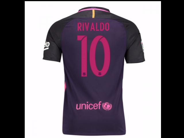 59fcb9e8a 2016-17 Barcelona With Sponsor Away Shirt - (Kids) (Rivaldo 10 ...