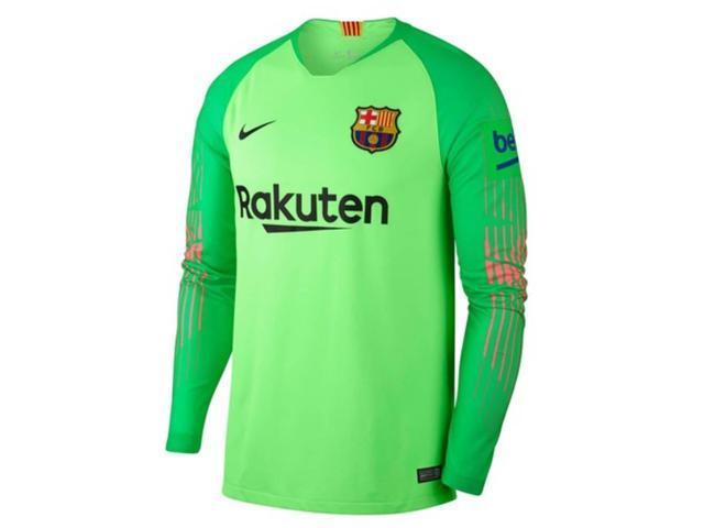 e72aa0eba 2018-2019 Barcelona Away de Nike portero camiseta (verde) - para niños