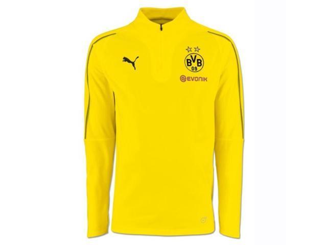 2018-2019 Borussia Dortmund Puma Half Zip Training Top (Yellow) - Kids aedca71da