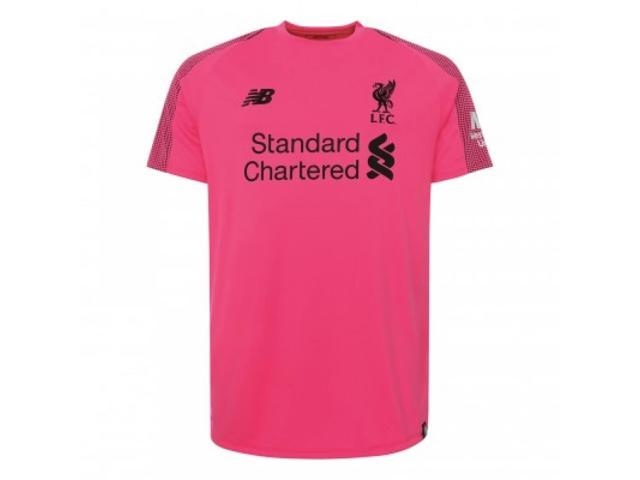 2018-2019 Liverpool Third Short Sleeve Goalkeeper Shirt (Pink ... 5d0ba01c1