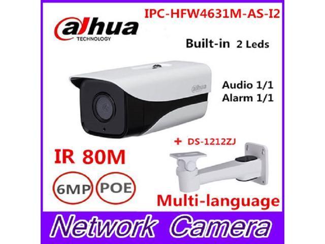 Dahua IPC-HFW4631M-AS-I2 6MP Stellar Camera built-in POE SD Card slot Audio  Alarm interface IP67 IR80M outdoor IP Camera 3 6mm lens - Newegg com