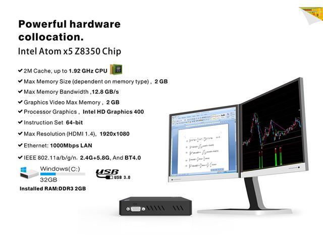 Beelink Z83-V Z8350 2G+32G quad-core home small office host mini PC  computer dual-screen display set-top box - Newegg ca