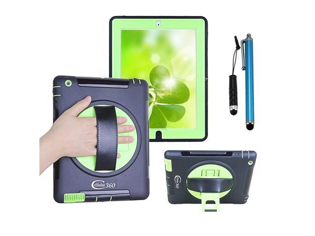 huge discount 9b412 0e9b3 Cellular360 Apple iPad 2 iPad 3 iPad 4 Shockproof Case with 360 Degrees  Rotatable Kickstand and Leather Handle - Newegg.com