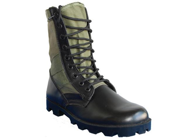 6c7d9860c85 KRAZY SHOE ARTISTS Combat 8 Inch Leather Tactical Men's Jungle Boots Green  Black - Newegg.com